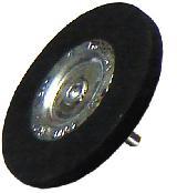 Щетка обрезиненная 75х6 мм с трехкулачковым зажимом